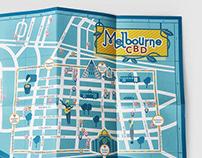 Melbourne CBD Guide Map