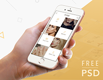 POSH - Free PSD Mobile UI kit