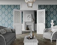 Classic Living Room CGI