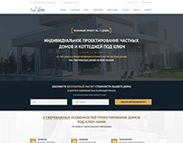 Construction company - landing page concept