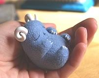 Light blue cutie horns