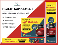 Health Supplement Banner- HTML5 Ad Templates