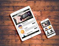 LUSH Three Web Page Redesign