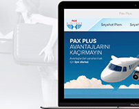 Pax Airlines Web and Mobile App Design