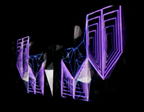 Visual design for a videomapping stage.
