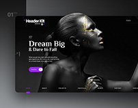 UI-UX Header Kit Pack I