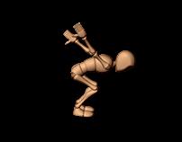 Animacja postaci - skok w tył