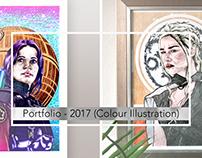 Portfolio: 2017 Illustration (Colour Portraits)