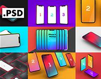 8 iPhone X mockups - 16 Hi-res mockups