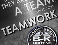 B-K Lighting Machine Shop Posters