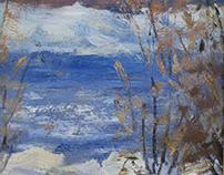 """""""River"""" canvas, oil 40x50"""