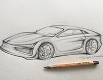 Car sketching....