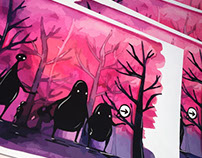 Prints of a monster book page