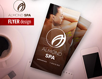 ALMOND SPA - Flyer design