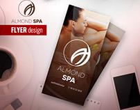 ALMOND SPA - Flyer design