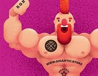 Character Design Illustration and Gigantic Grain Brush