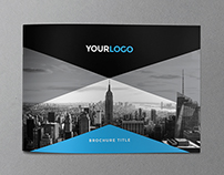 Minimal Modern Black & Blue Brochure