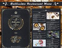 Bellissimo Restaurant Menu