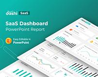Dashi SaaS | SaaS Dashboard Report PPTX