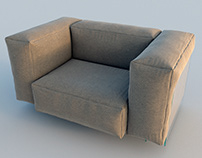 Диван и кресло Glas Italia.
