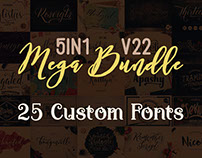 5in1 Mega Bundle v.22: 25 Custom Fonts