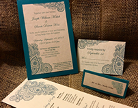 Country Chic Wedding Stationary