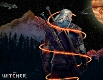 The Witcher Ad (Photoshop)