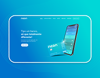 Neon Landing Page Redesign