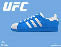 Adidas Superstar UFC fighter collection concept PSD