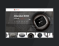 website design for robotic vacuum cleaner