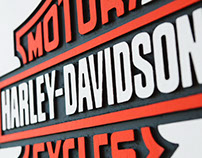 Harley-Davidson volumetric painting
