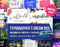 Typographer's Dream Box - 50+ Fonts and 200 Bonus Logos