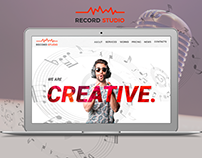 Website concept for recording studio