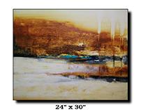 Acrylic on canvas Abstract landscape art