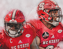 NC State Football Bowl Game Guide Covers