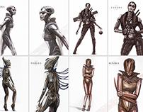 Femme Fatale mecha concepts