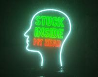 Stuck inside my head - Octane render - Typography