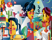 KIOL illustration, logo and website