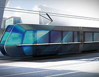 Tram design concept sketch