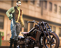 Sniper Moto Rider (Game Banner Project)