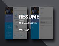 Minimal Corporate Resume