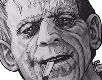 Karloff Smoking