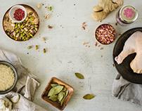 Recipe development: Rose jam pistachio chicken