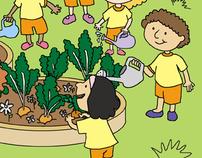 Ilustrações para livro de Maternal