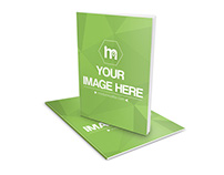 Slim Book Magazine Cover Mockup Generator Template PSD