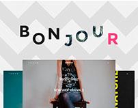 Bonjour - Creative Multi-Concept PSD Template