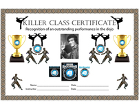 Victory MMA Killer Class Certificate