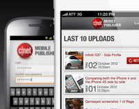 Android & iPhone CNET Publisher Application