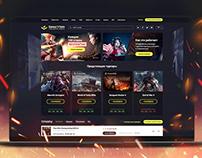 Дизайн сайта игрового портала