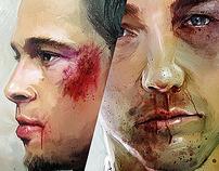 In the Fight Club! with Brad Pitt & Edward Norton!